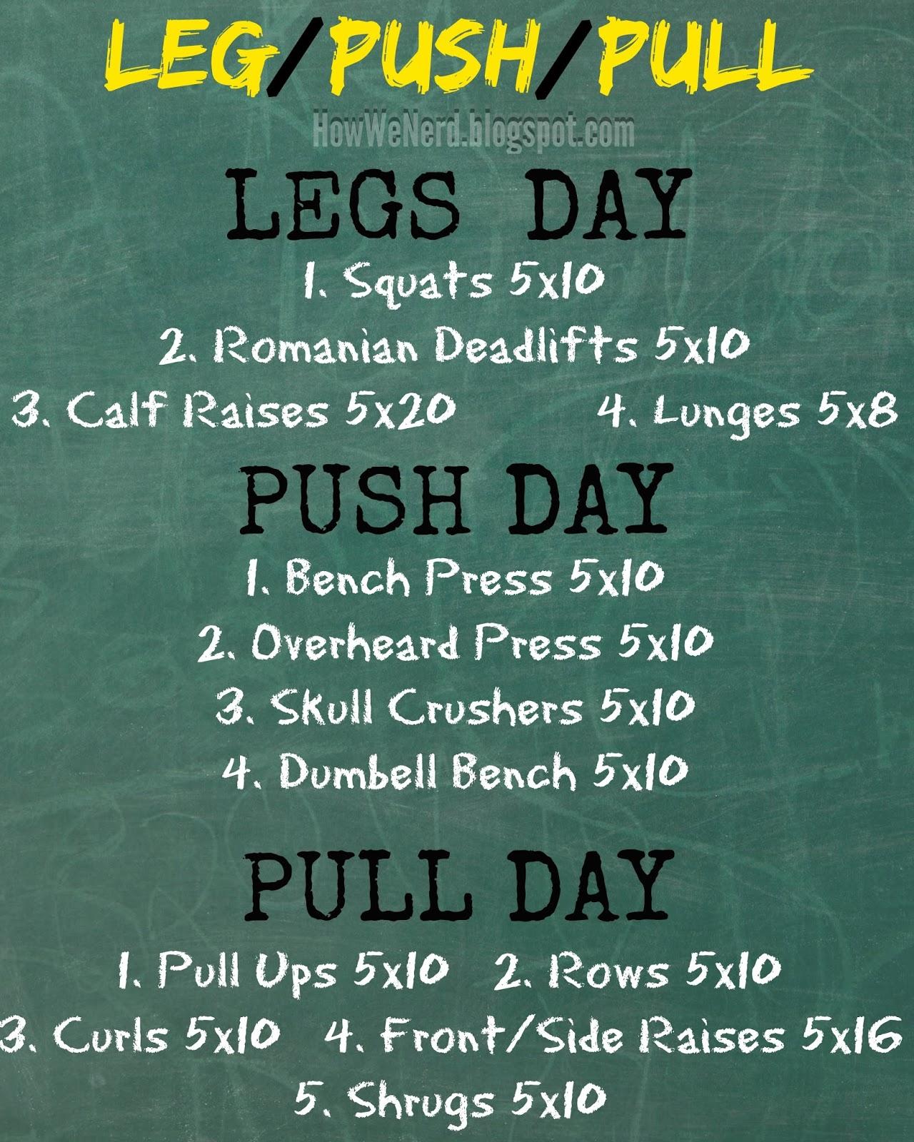 Weight Training Pinnable Legs Push Pull Days