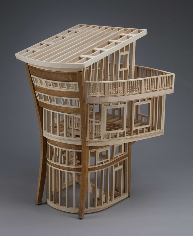 06-Habitation-Ted-Lott-Architecture-in-Upcycled-Furniture-and-Suitcase-Sculptures-www-designstack-co