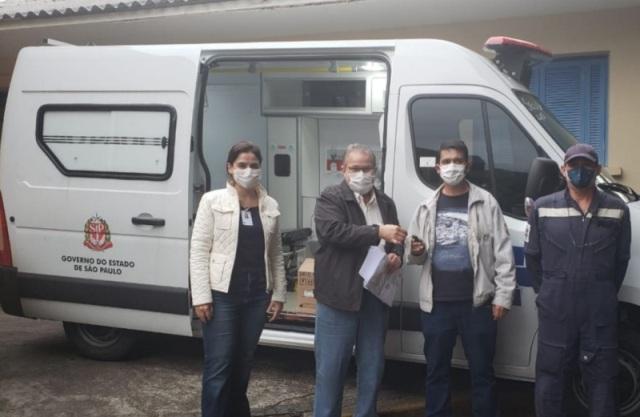 Governo do Estado de SP entrega nova ambulância ao CONSAÚDE