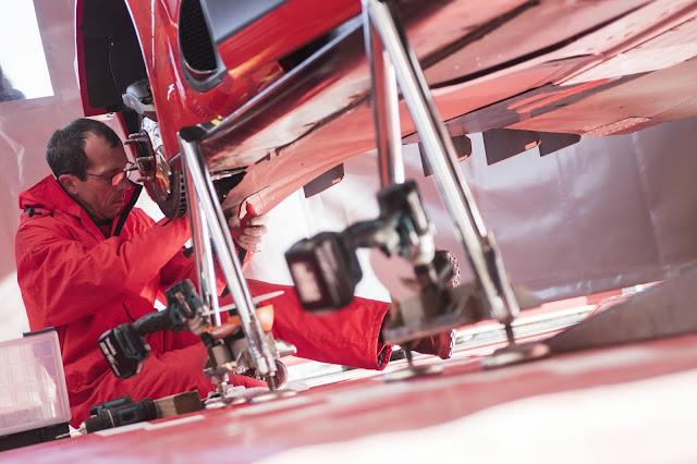 WRC Mechanic in service area