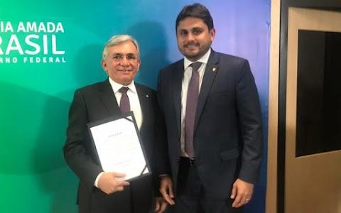 Deputado Juscelino Filho prestigia posse do novo reitor da UFMA