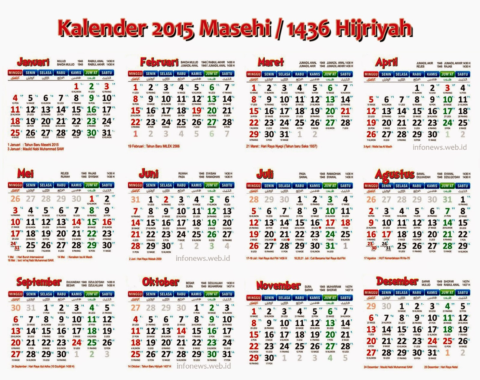helligdage 2015