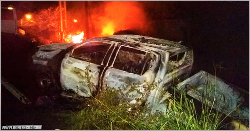 Atracaron a dos policías del Zulia y luego de golpearlos les quemaron la patrulla