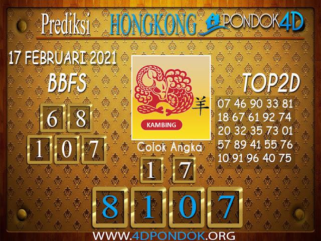 Prediksi Togel HONGKONG PONDOK4D 17 FEBRUARI 2021