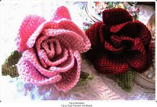 Tığ işi Çiçek Motifleri