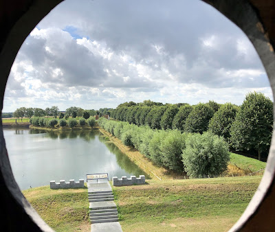 View from a flour mill in Brielle, the Netherlands, molen 't Vliegend Hert Brielle.