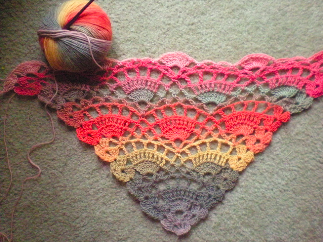 Crochet Beginner Shawl Pattern : Crochet pattern for a shawl. - CK Crafts