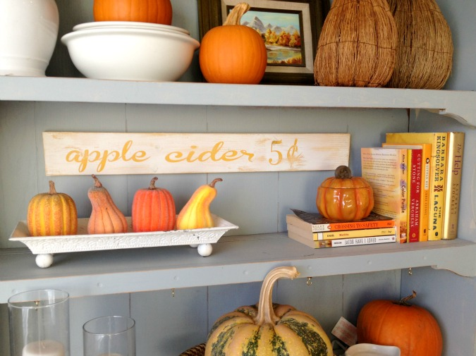 Adventures In Decorating Our 2015 Fall Kitchen: Maybe Matilda: Chic Black And White Halloween Mantel