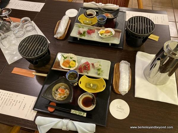table setting at Hotel Jogakura in Amori, Japan