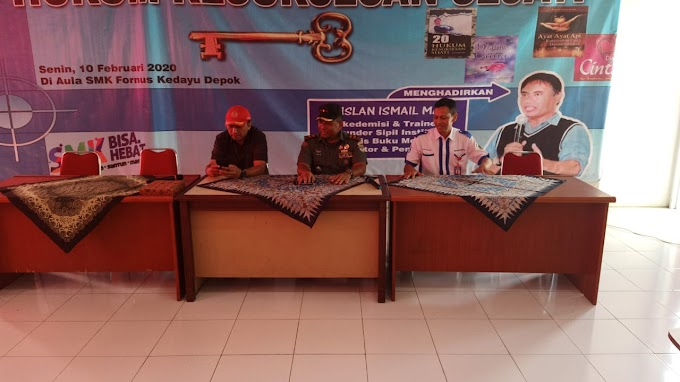 Danramil 06/Cimanggis Tanamkan Wasbang Siswa SMK Forward Nusantara