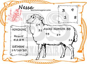 Kode syair Hongkong senin 19 oktober 2020 301