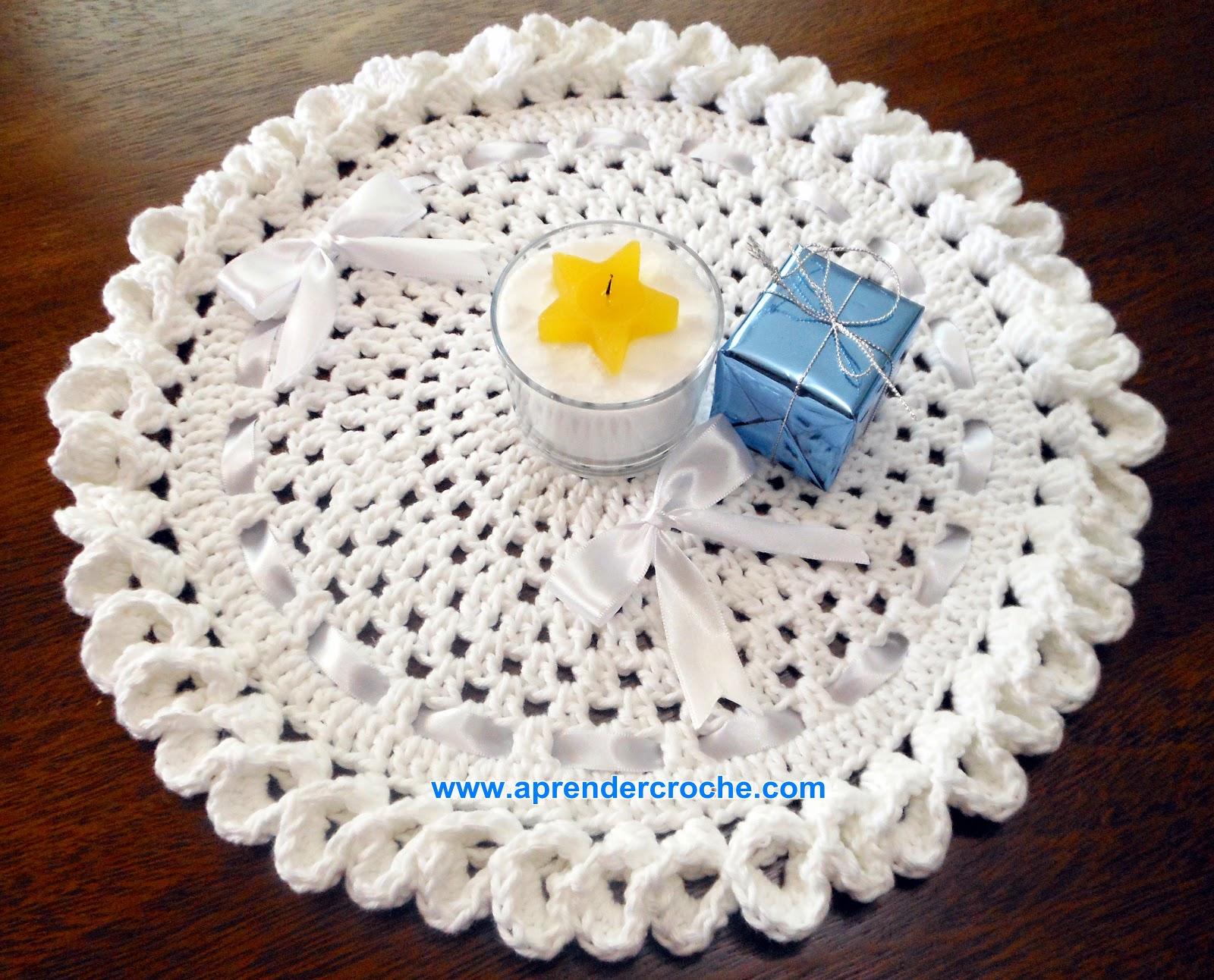 aprender croche americanos réveillon branco mesa copos xicaras toalhas barroco maxcolor edinir-croche dvd loja