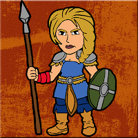 Fierce Female Warrior Esc…