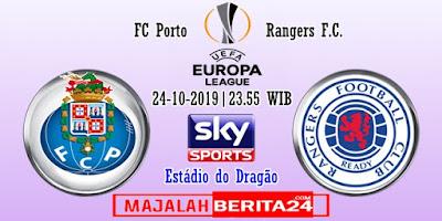 Prediksi FC Porto vs Rangers — 24 Oktober 2019