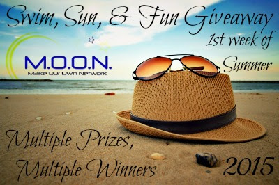 Enter the Swim, Sun, & Fun Giveaway. Ends 7/9