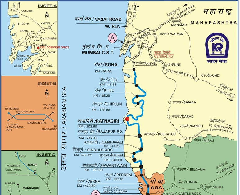 Konkan Railway Map Ratnagiri TOURISM: Konkan Railway MAP Konkan Railway Map