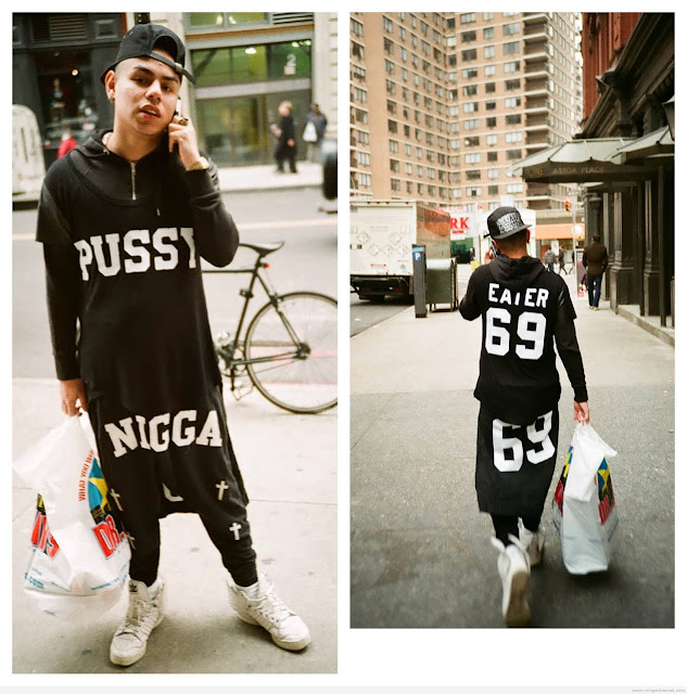 Pussy eater 69 shirt worn by soundcloud rapper 6ix9ine. PYGOD.COM