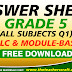 ANSWER SHEETS MODULE GRADE 5 Q1