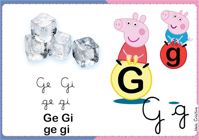 Silabário 4 tipos de letra Peppa Pig e George