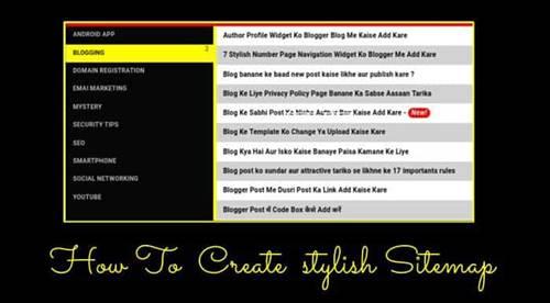 Best Sitemap page design better look design widget