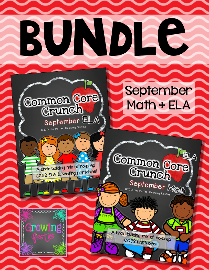 http://www.teacherspayteachers.com/Product/Common-Core-Crunch-September-ELA-CCSS-Printables-Growing-Firsties-737562