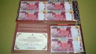 Harga Uang Bersambung (Uncut Money) Terbitan Bank Indonesia
