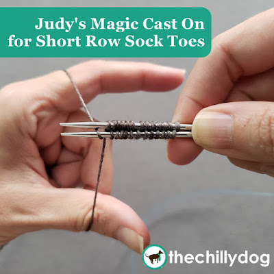 Judy's Magic Cast On for short row toes: this Double sided cast on allows you to cast on stitches across the top of the foot, at the base of the toes before you begin your short rows