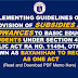IMPLEMENTING GUIDELINES OF THE PROVISION OF SUBSIDIES AND ALLOWANCES TO BASIC EDUCATION STUDENTS UNDER SECTION 4(n) of REPUBLIC ACT RA NO. 11494, OTHERWISE KNOWN AS BAYANIHAN TO RECOVER AS ONE ACT
