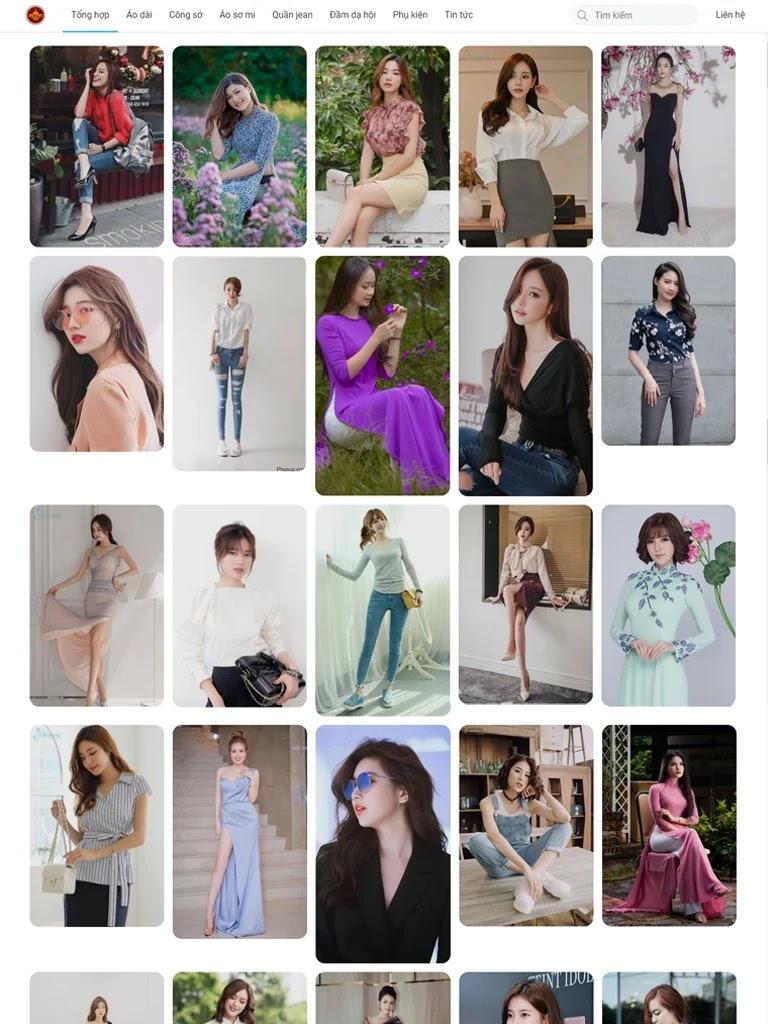 Template blogspot show thư viện hình girl xinh chuẩn seo - Ảnh 1