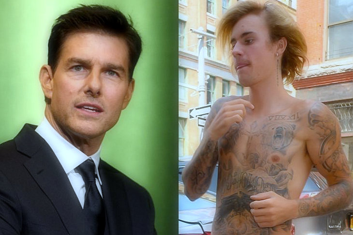 JUSTIN BIEBER WANTS TO FIGHT THE TOM CRUISE