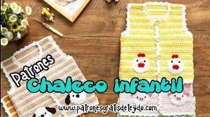 Chaleco para bebés y niños pequeños a crochet | Patrones y explicación