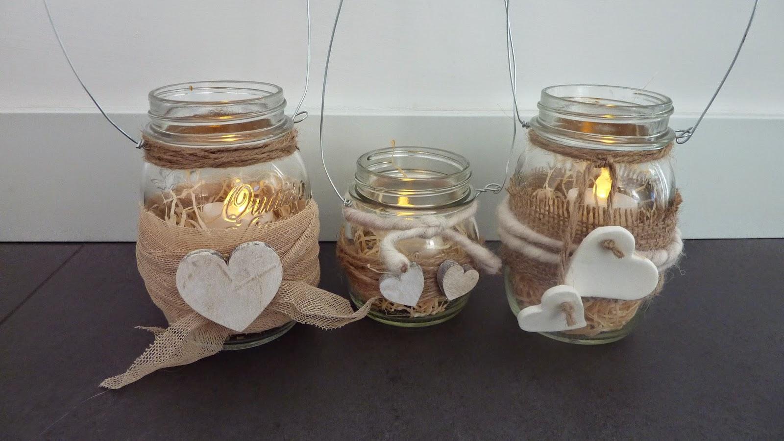 Nella valigia della buru 10 lanterne fai da te esempi e - Vasetti vetro ikea ...