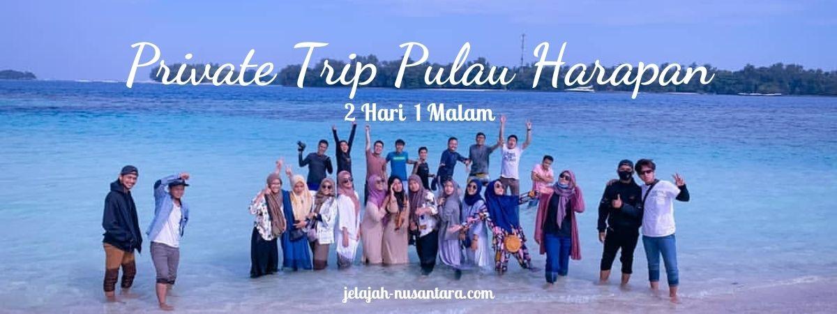 paket private trip pulau harapan murah