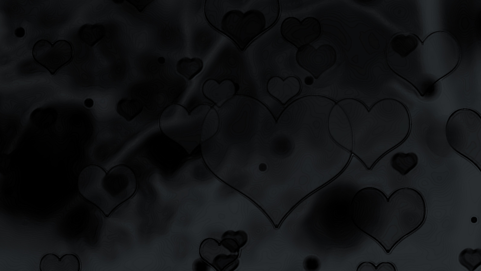 Coal Black Background with hearts overlay