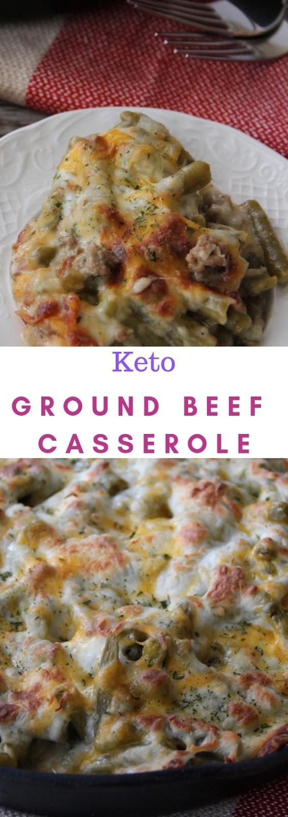 Keto Ground Beef Casserole #dinner #lunch #keto #ground #beef #casserole