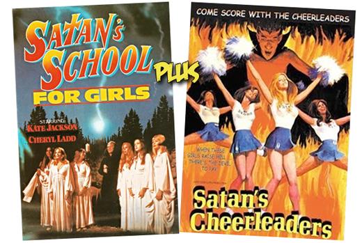 Posters: Satan's School for Girls (1973) and Satan's Cheerleaders (1977)