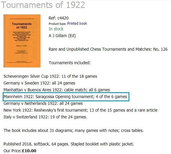 Torneos de 1922