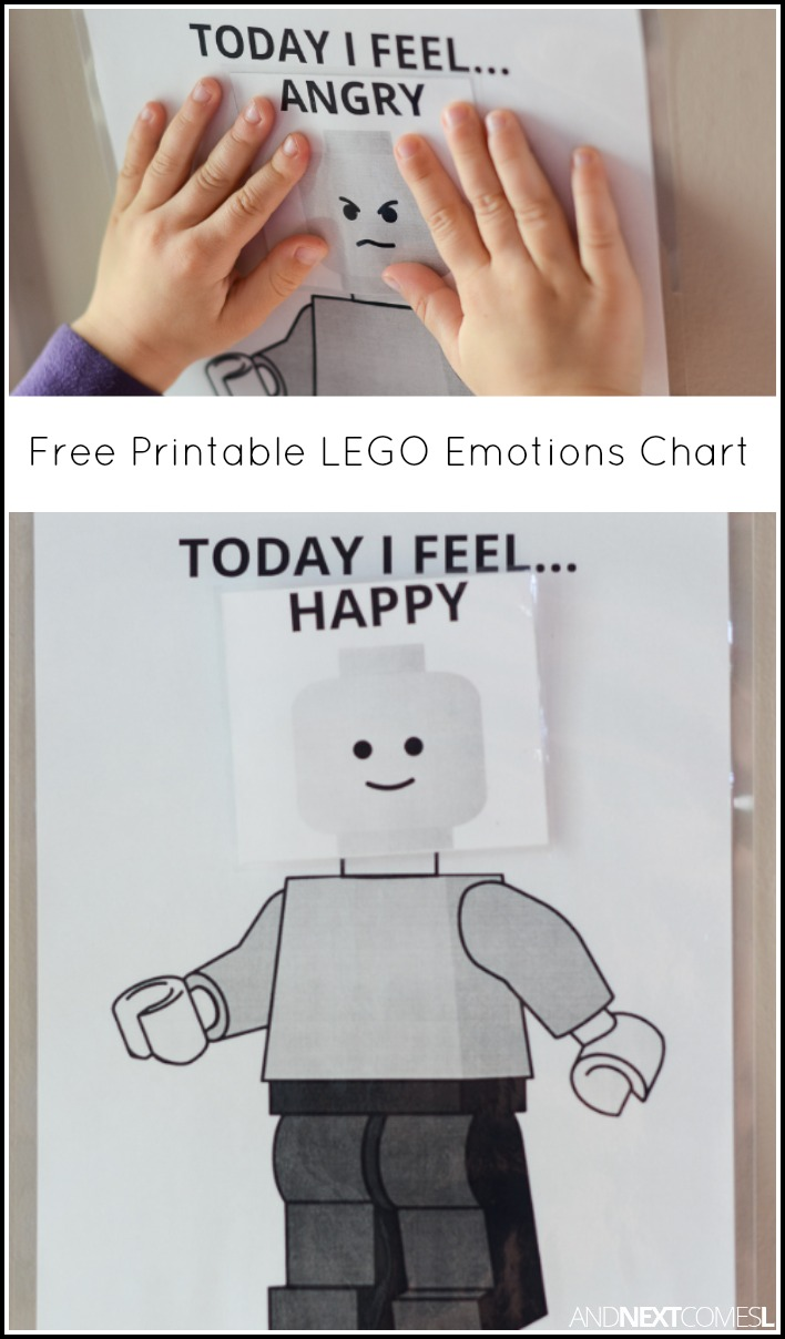 graphic relating to Feelings Cards Printable known as Free of charge Printable LEGO \