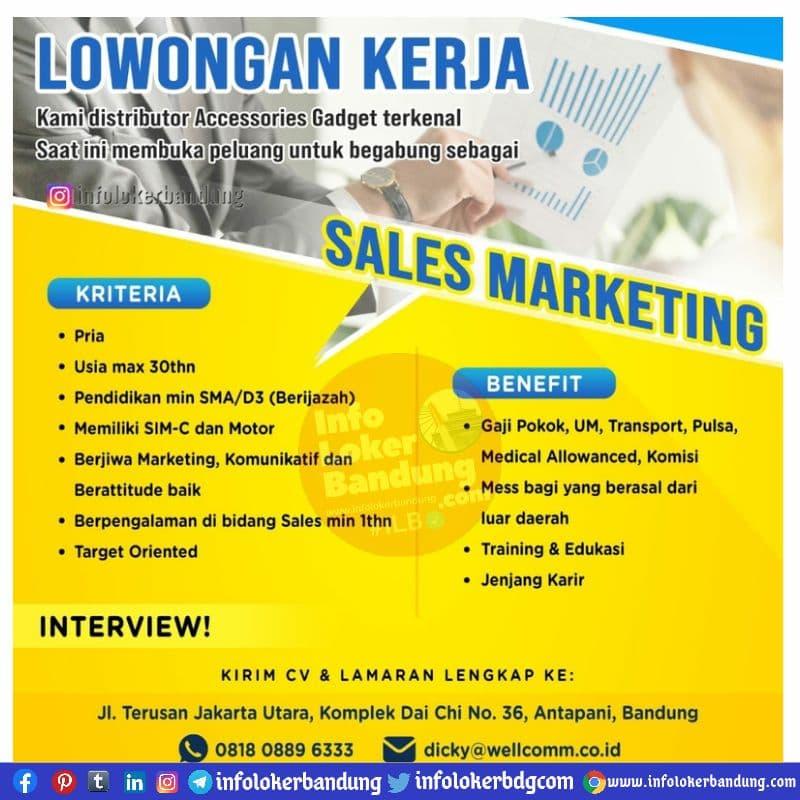 Lowongan Kerja CV Bandung Indo Pratama ( Wellcomm ) Bandung Mei 2021