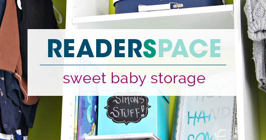 Iheart Organizing Reader Space Sweet Baby Storage