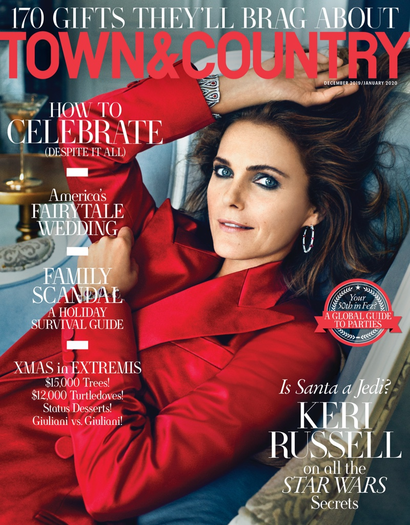 Keri Russell is glamorous for Town & Country