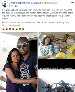 Nigerian Man, Wife and 3 Kids Dies On Christmas Day (Photo)