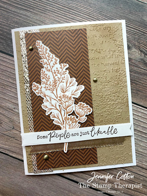 Stampin' Up!'s Beauty of Tomorrow bundle; Blackberry Beauty 12x12 Specialty DSP; Be Dazzling Sale a Bration August-September 2021; Gold Shimmer Ribbon; Timeworn Type embossing folder; Bloom Dies; Brushed Metallic Adhesive Backed Dots.  #StampinUp #StampTherapist