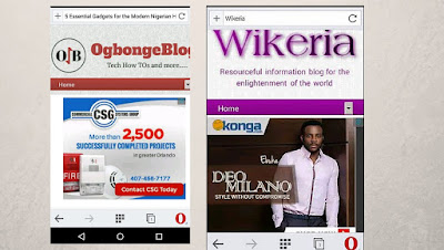 adsense on opera mini