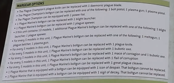 wargear plague marines