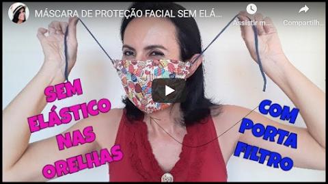 MÁSCARA DE PROTEÇÃO FACIAL SEM ELÁSTICO AJUSTÁVEL NÃO MACHUCA AS ORELHAS...