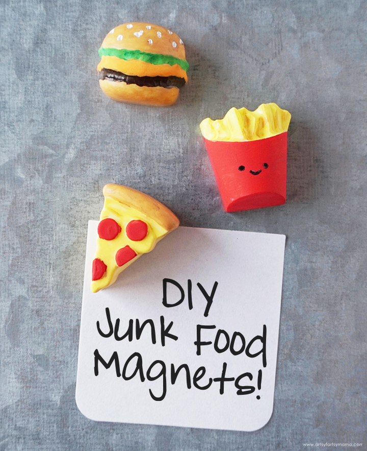 DIY Resin Junk Food Magnets