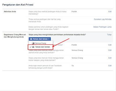 Cara Membuat Facebook Tidak Bisa di add Friend & Hanya Bisa di Follow Saja