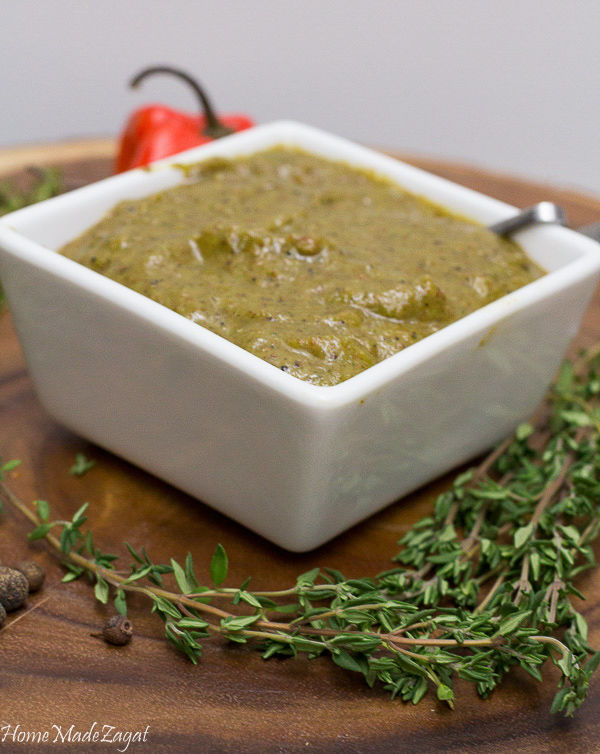 A quick and easy recipe for making Jamaican jerk seasoning in the form of a paste.