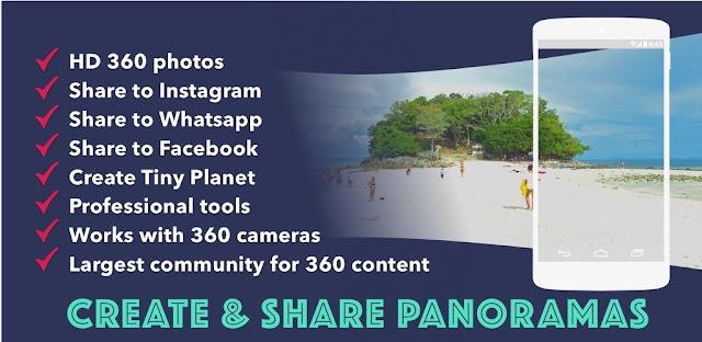 تنزيل Panorama 360  تطبيق تصوير و مشاركة صور بانورامية لنظام الاندرويد